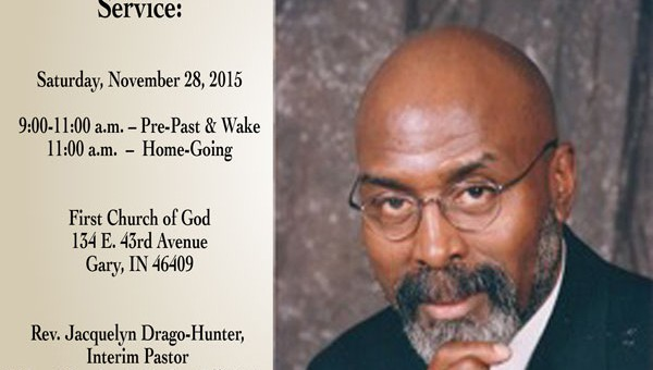 Home-going Celebration for Pastor McClure 25 Nov 2015